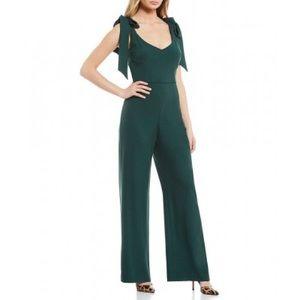 NWT! 💚 Green Danica Tie Shoulder Jumpsuit